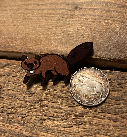 'Canadian Critters' Wooden Pin Collection- Beaver