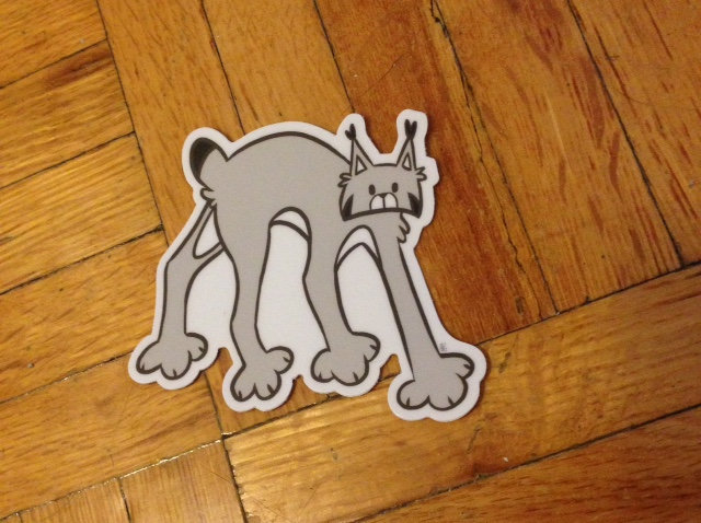 'Wandering Lynx' Sticker