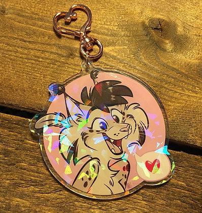 Holographic Nicole Acrylic Keychain