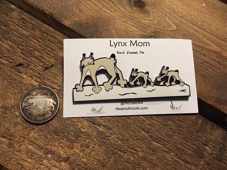 'Lynx Mom' Hard Enamel Pin