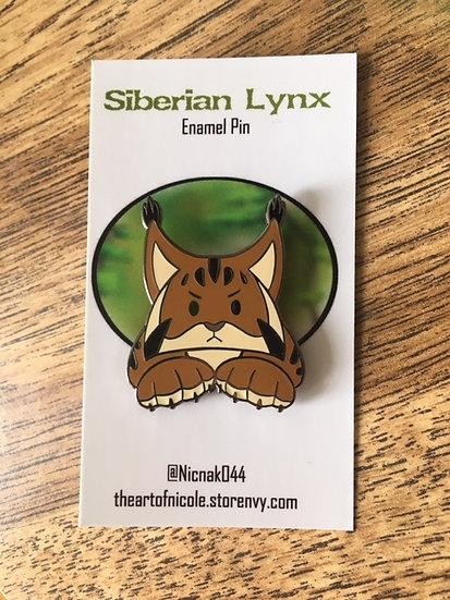 'Wild Lynx' Hard Enamel Pin Collection- Siberian Lynx
