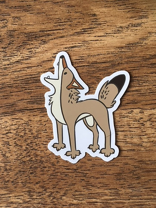 Yappy Coyote Sticker