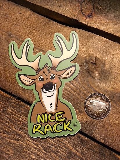 'NICE RACK' Sticker