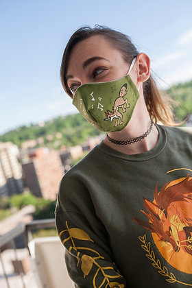 'Singing Coyotes' Reusable Face Mask