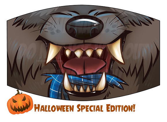 'Werewolf' Reusable Face Mask *SPECIAL HALLOWEEN EDITION*