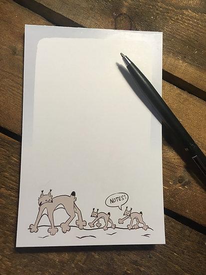 'Lynx Mom' Notepad