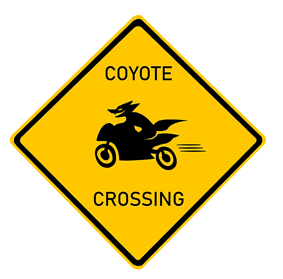 'Coyote Crossing' LARGE Sticker