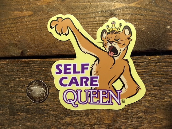 Self Care Queen Sticker