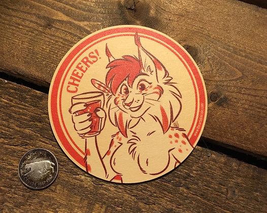 'Cheers!' Coaster