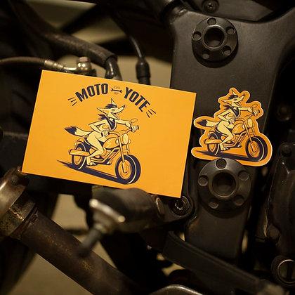'Moto Yote' Art Print 4x6