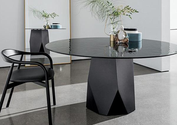 Sovet Round Glass Table