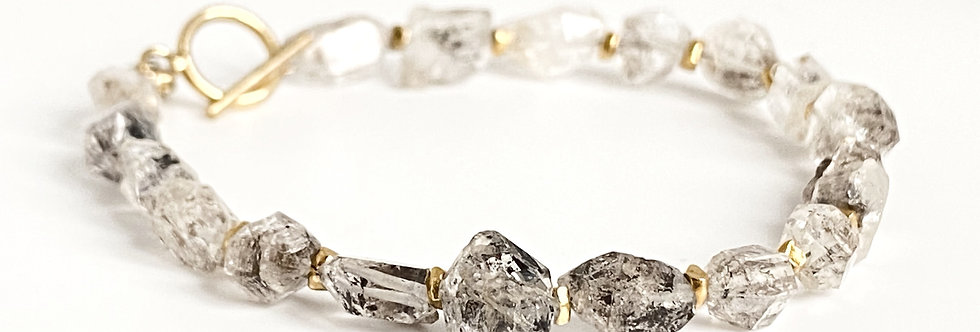 Herkimer Diamond Quartz Bracelet