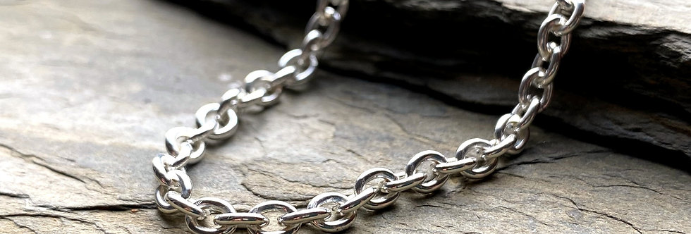 Classic Sterling Silver Cable Chain Bracelet