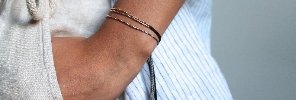 Tiny Silk Beaded Bracelet
