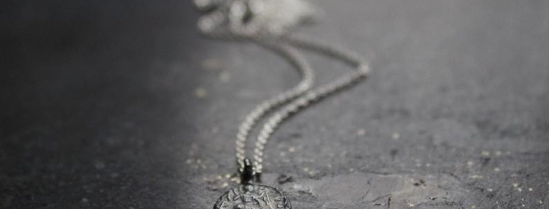Tiny Sterling Silver Coin Necklace
