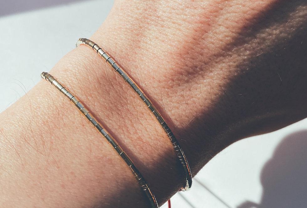 14k Gold Filled Tube Beaded Bracelet