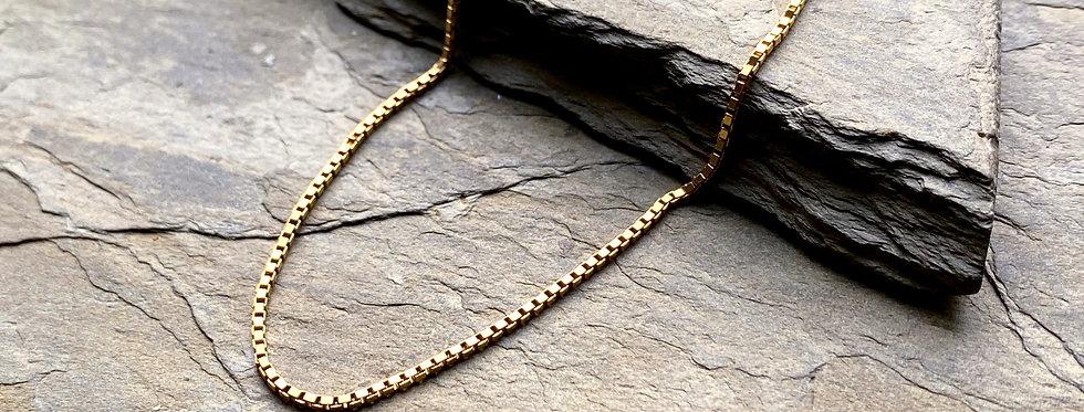 Italian 14k Solid Gold Box Chain
