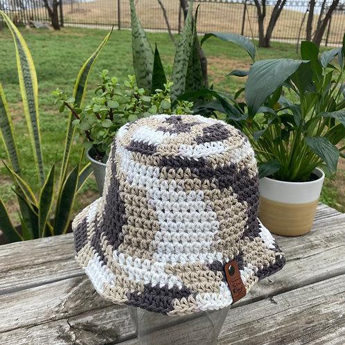 Crochet Bucket Hat - S'mores
