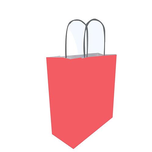 Borsette rosso chiaro - Con manico arrotolato nero