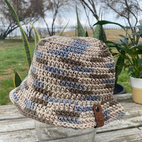 Crochet Bucket Hat - Earth Chocolate