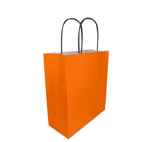 Borsette arancioni - Con manico arrotolato