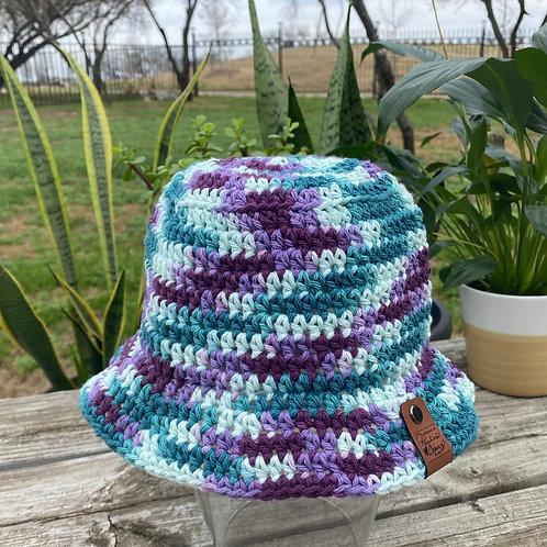 Crochet Bucket Hat - Berry Starburst