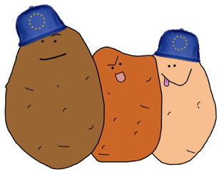 textapotato send personalised potato message to europe in post