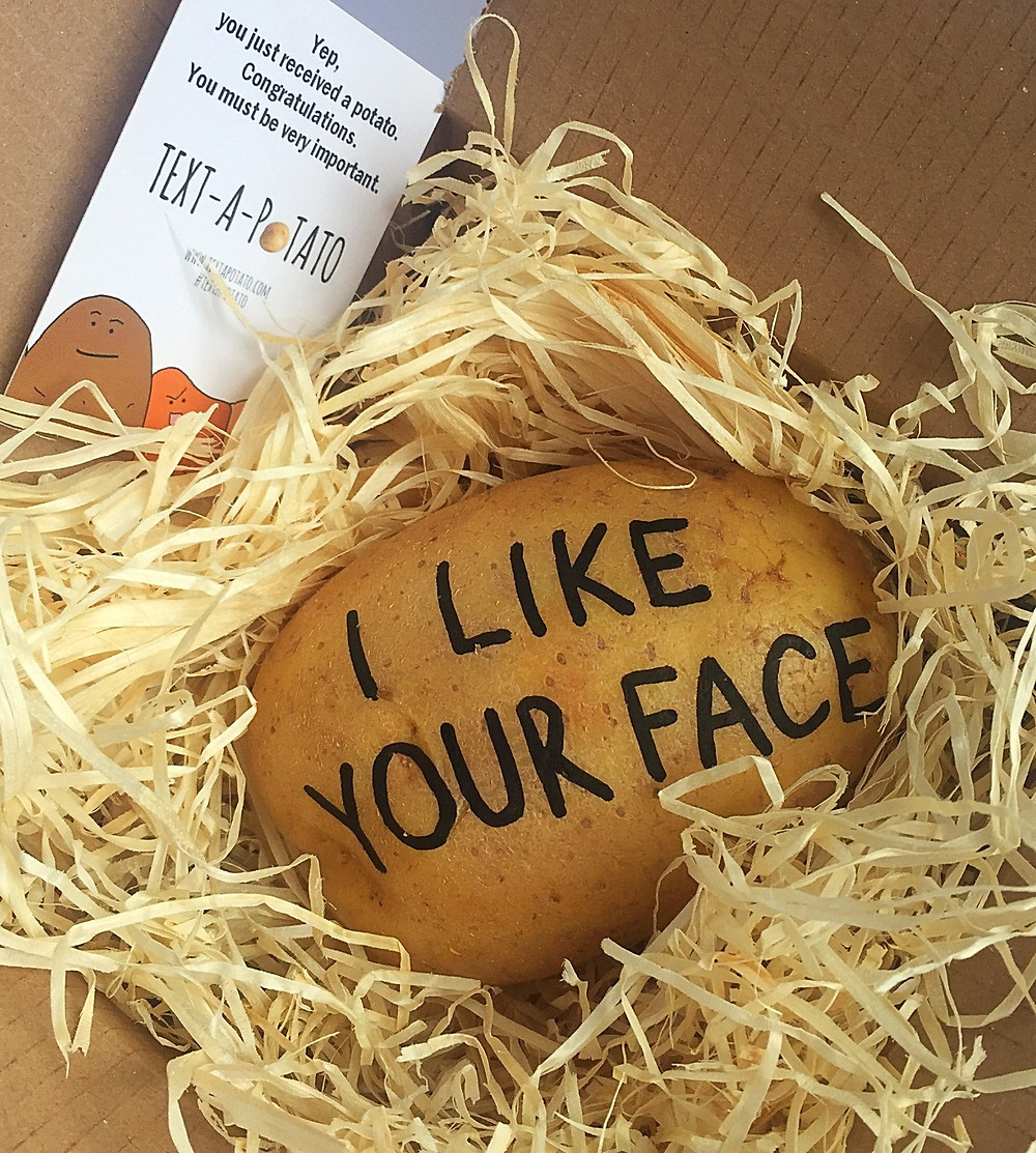 text a potato personalised message on spud