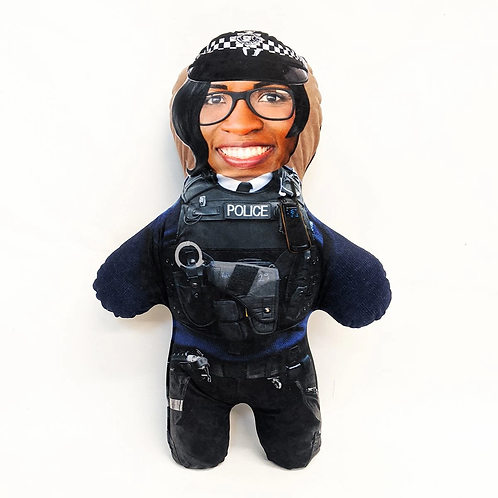 POLICE FACE DOLL