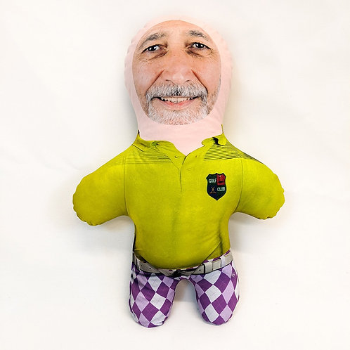 GOLFER FACE DOLL