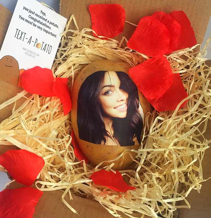 New potato gift alert! It involves your face. On a potato.