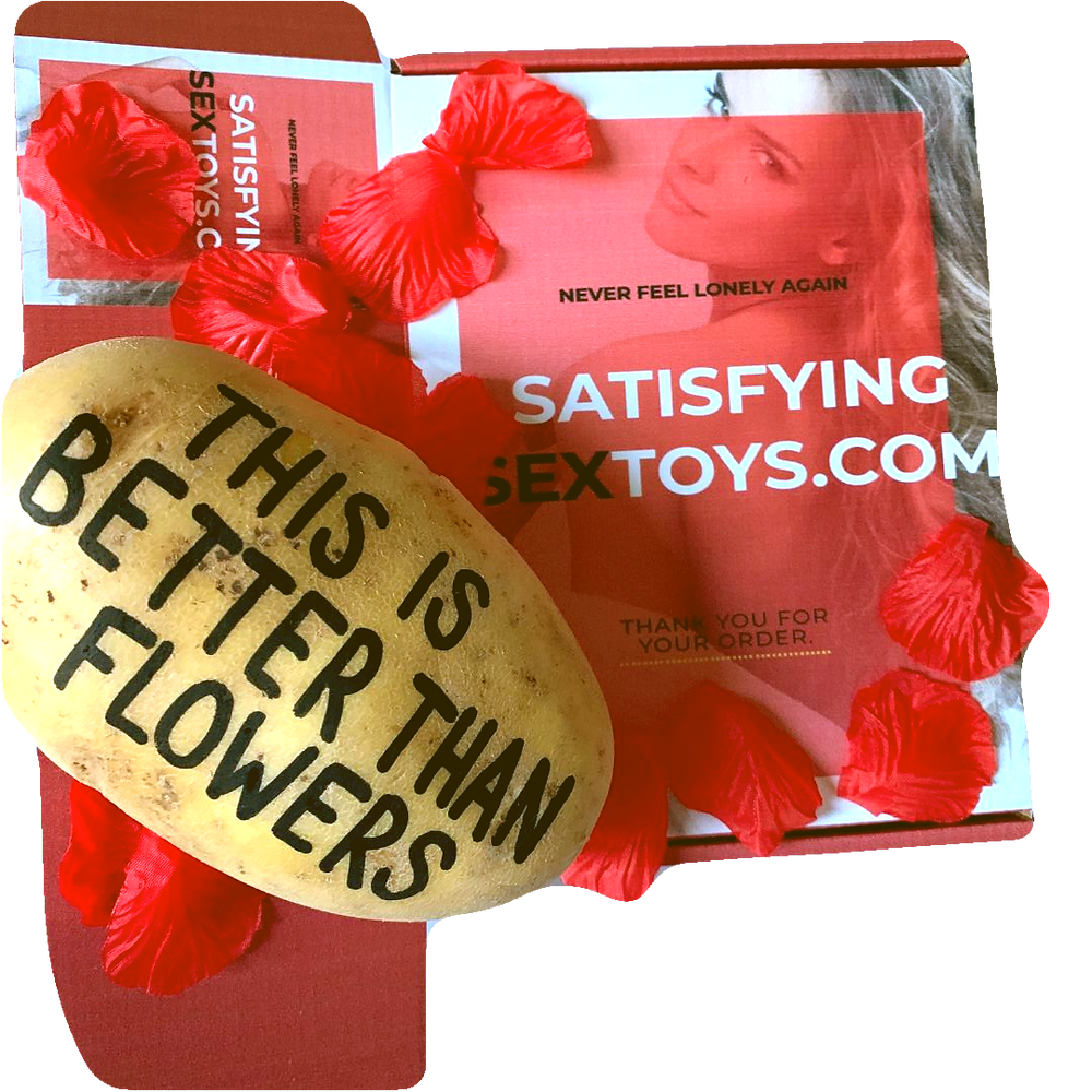 Text A Potato Potatoe Unusual Different Weird Crazy Gift Ideas Present Parcel Anonymous Mail Fun Funny Weird Gifts Embarrassing Sex Packaging Roses Anniversary love