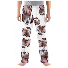 Text A Potato Pyjamas Pjs Your Face Photo Image on Pants Personalised Gift Idea Funny Original Bed Pet Dog Cat