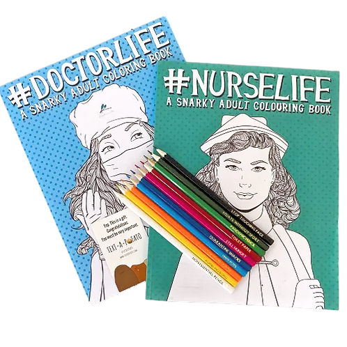 NHS COLOURING BOOK & SWEARY PENCILS