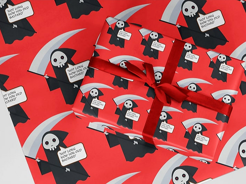 'NOT LONG NOW' WRAPPING PAPER
