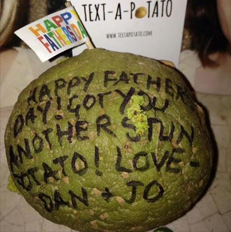 text a potato parcel