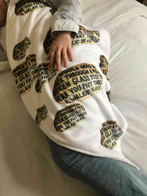 Send your facepets friends photo on a blanket bedding socks pyjamas personalised gift idea funny original post