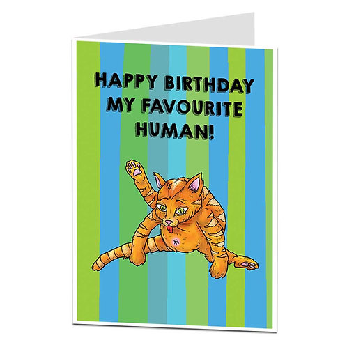 CAT BUTT B'DAY CARD