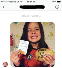 text a potato in the post mail parcel gift dragons den bbc funny novelty spud potatoe