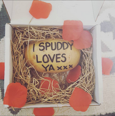 text a potato send in the post mail parcel gift dragons den bbc funny novelty spud potatoe