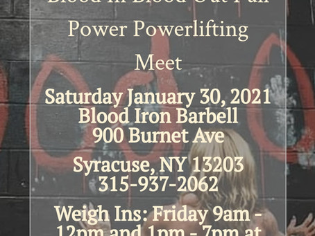 Blood In Blood Out powerlifting meet