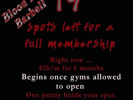 Membership countdown