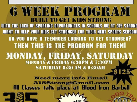 Jamie is bringing a strength program to your kids!