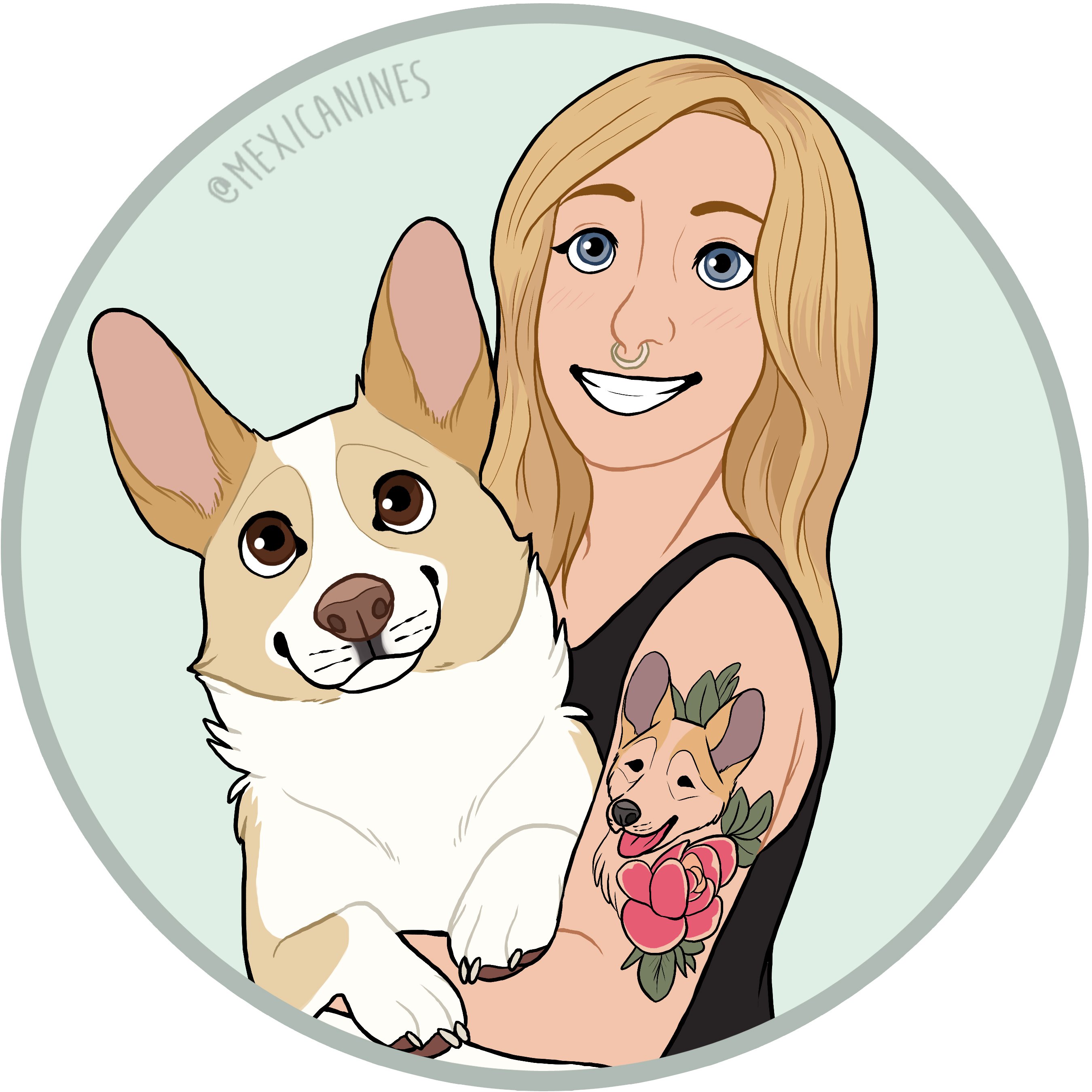 girl with the corgi tattoo