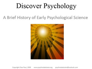 Discover Psychology: A Brief History of Early Psychological Science