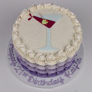 Martini Theme Cake