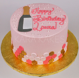 Champagne Theme Cake