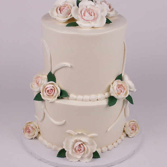 Simple Cake with Fondant Flowers