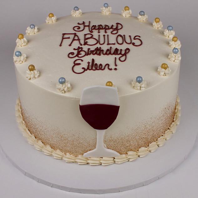 Wine Theme Cake