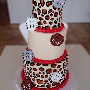 Leopard & Cats Theme Cake